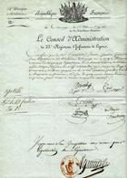 """1812- Lettre De Tournay ( Le Jemmapes ) """" Le Conseil D'Administration Du 33 è Régiment D'infanterie. De Ligne """" - Postmark Collection (Covers)"""