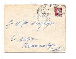LETTRE DE NEUSSARGUES CANTAL 1962 - Postmark Collection (Covers)