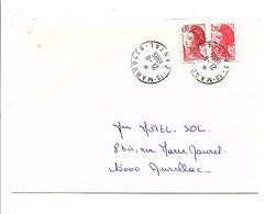 LETTRE DE MARCOLES CANTAL 1985 - Postmark Collection (Covers)
