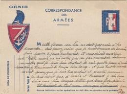 FM - WW 2 - 39-45 - Carte Postale En Franchise Militaire - Cartes De Franchise Militaire