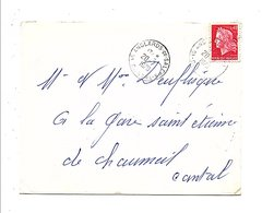 LETTRE DE ANGLARD DE SALERS CANTAL 1970 - Postmark Collection (Covers)