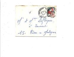 MIGNONETTE DE AURILLAC ENTREPOT CANTAL 1967 - Marcophilie (Lettres)