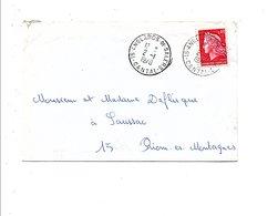LETTRE DE ANGLARD DE SALERS CANTAL 1970 - Marcofilie (Brieven)