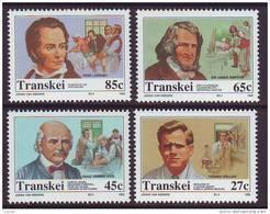D101225 Transkei 1992 South Africa MEDICAL DISCOVERIES Doctors Stethescope  Measles MNH Set - Afrique Du Sud Afrika RSA - Transkei