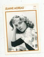 Photographie, Portrait De STARS, Cinéma ,actrice , JEANNE MOREAU ,1955, Photo Harcourt , 2 Scans ,fiche Descriptive - Personalità