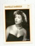 Photographie, Portrait De STARS, Cinéma ,actrice , DANIELLE DARRIEUX ,1955, Photo Harcourt , 2 Scans ,fiche Descriptive - Personalità