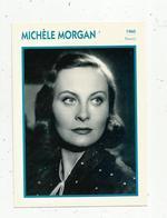 Photographie, Portrait De STARS, Cinéma ,actrice , MICHELE MORGAN ,1960, Photo Harcourt , 2 Scans ,fiche Descriptive - Personalità