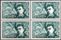 France Poste N** Yv: 910 Mi 928 Yv:4 Euro Rimbaud (Bloc De 4) - France