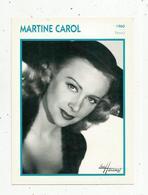 Photographie, Portrait De STARS, Cinéma ,actrice , MARTINE CAROL ,1960, Photo Harcourt , 2 Scans ,fiche Descriptive - Personalità