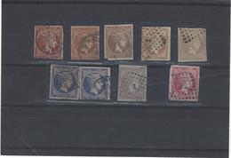 Grecia ,usati ,9 Pezzi ,qualita Mista - 1861-86 Grande Hermes