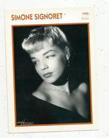 Photographie, Portrait De STARS, Cinéma ,actrice , SIMONE SIGNORET ,1950, Photo Harcourt , 2 Scans ,fiche Descriptive - Personalità