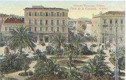 Grèce Arthènes Place De La Concorde, CP écrite Par Un Soldat Français Parti Des Dardanelles Et Au Repos à Moudros 1916 - Griekenland