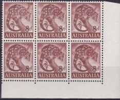Australia 1960 Plate Flaw Tiger Cat SG 317 Mint Never Hinged ASC 358(11) Typhoon Retouch - Mint Stamps
