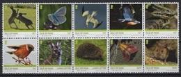 Man (2019) - Set -  /  Butterflies - Butterfly - Papillon - Vlinders - Birds - Lizards - Rabbits - EUROPA CEPT - Vlinders