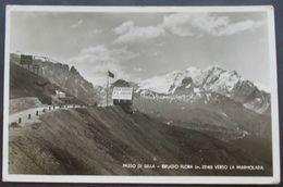 Cartolina Passo Di Sella Rifugio Flora Verso La Marmolada - Viaggiata - 1934 - - Trento
