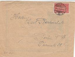 Doppelt Benutzter Brief (innen SCHUBERTBUND)  Mit 257 Aus BERLIN 20.9.23 - Briefe U. Dokumente