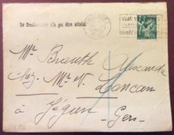 V96 «Le Destinataire N'a Pu être Atteint» «Voir Vincennes Château Donjon Musée Guerre» Iris 432 30/7/1940 - 1921-1960: Modern Period
