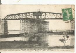 MIRAMAS...BOUCHES RH...ilgne Miramas L'Estaque , Etang De Caronte....Schneider Constructeur..en 1914 - Otros Municipios