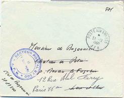Cachet Manuel Poste Aux Armées AFN - Tampon Du Secteur Postal 87500 - Marcophilie (Lettres)