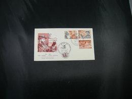 """BELG.1964 1278-1280 FDC (Brux/Brus) : """" Pater Damiaan , Lutte Contre Lépre / Werelddag Voor De Melaatsen,"""" - FDC"""