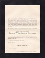 LIBIN OCHAMPS Gérald Baron De WYKERSLOOTH De ROOYESTEYN 1924-1943 Accident Libin Habite Château De RONFAY 2 Volets Compl - Décès