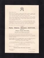 GAND LOVENDEGEM  Marie ROTTIER épouse Messire Joseph WOLTERS  1867-1939 Faire-part Mortuaire - Décès