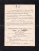 WOMMELGEM Jean-Joseph Baron De WITTE Académie Royale De Belgique 81 Ans 1889 Mort à Paris Famille De CRESPIN De BILLY - Décès