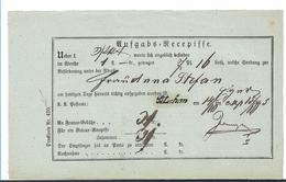 ÖSTERREICH XX009 /  – Einlieferungsschein 1865, (bläuliches Papier) - 1850-1918 Imperium