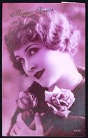 FEMME - CP - Jeune Femme Avec Roses - Circulé - Circulated - Gelaufen - 1931. - Femmes
