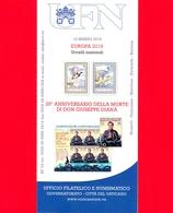 Nuovo - VATICANO - 2019 - Bollettino - Europa Uccelli - Don Giuseppe Diana - BF 04 - Vaticano