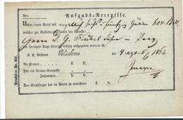 ÖSTERREICH XX006 / – 1862 Aufgabeschein Petschau - 1850-1918 Imperium