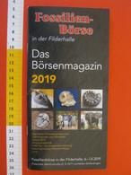 Z.06 FOSSILI DEPLIANT GERMANY - 2019 FOSSILIEN BOURS FILDERHALLE STUTTGART STOCCARDA - 52 PAGE - Fossielen