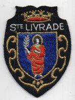 ECUSSON TISSU  FEUTRINE NOIRE    SAINTE LIVRADE - Blazoenen (textiel)
