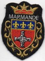 ECUSSON TISSU  FEUTRINE NOIRE    MARMANDE - Blazoenen (textiel)