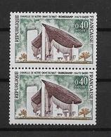 France Timbres De 1964 N°1435 Et 1435b (n° Rouge)  Neuf ** - France