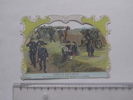 CHROMO DECOUPIS Chocolat PAYRAUD Grand Format: Siège De PARIS (1870) Garde Nationale - MILITAIRE - GERMAIN Illustrateur - Découpis