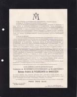BREENDONCK BREENDONK GUIRSCH Marie-josèphe De BUISSERET-STEENBECQUE De BLARENGHIEN Baronne De WYKERSLOOTH 1919 - Décès