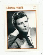 Photographie, Portrait De STARS, Cinéma ,acteur , GERARD PHILIPE ,1955, Photo Harcourt , 2 Scans ,fiche Descriptive - Personalità