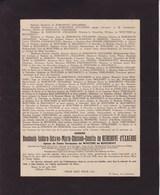 GAND MAZY Baudouin De KERCHOVE D'EXAERDE époux De WOUTERS De BOUCHOUT Conseiller Communal 1896-1945 - Décès
