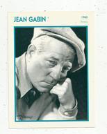 Photographie, Portrait De STARS, Cinéma ,acteur , JEAN GABIN ,1960, Photo Harcourt , 2 Scans ,fiche Descriptive - Personalità