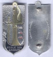 Insigne De L'Ecole Militaire Préparatoire Des Andelys ( Insigne Peint ) - Armée De Terre