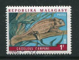 MADAGASCAR- Y&T N°523- Oblitéré (caméléons) - Reptiles & Batraciens