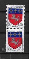 France Timbres De 1966 N°1510 Et 1510b (n° Rouge)  Neuf ** - France