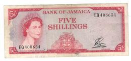 Jamaica 5 Shillings L.1960. (1st Signat.) VF. - Jamaique