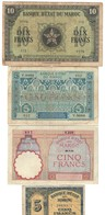 Marocco Morocco Maroc 10 Francs 1944 + 5 Francs 1924 1941 1944 LOTTO 408 - Marocco