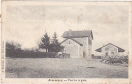 55 - AUBREVILLE - Vue De La Gare - 1904 ( Voiture, Tacot) - France