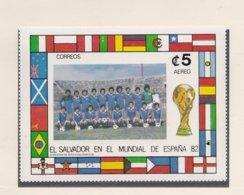 El Salvador  1982 Spain World Cup FIFA Football  - Imperforated Souvenir Sheet  MNH/** (H48) - 1982 – Espagne