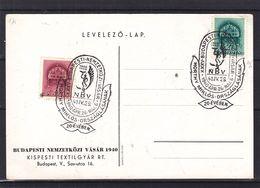Hongrie - Carte Postale De 1940 - Oblit Spéciale Budapest - Textile - Hongrie