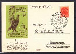 Hongrie - Carte Postale De 1942 - Oblit Pannonia - Exp Vers Budapest - - Hongrie