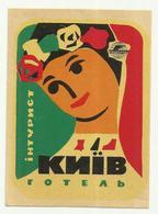 Vintage Luggage Label - Hotel Inturist KIEV Ukraine - Etiketten Van Hotels